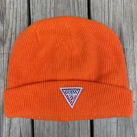【残り僅か】GUESS knit cap (Orange)