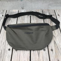 """【残り僅か】RUGGED """"rugged®️"""" waist pouch (Khaki)"""