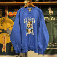 "【残り僅か】RUGGED × EDOFUKU ""UP IN SMOKE"" sweat (Blue)"