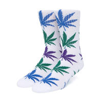 "HUF GRADIENT LEAVES PLANTLIFE SOCK ""White"""