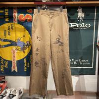 "RUGGED on vintage ""JAPAN ANIMAL"" chino pants ①"