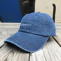 【残り僅か】RUGGED ''curisve logo'' adjuster cap (Denim)