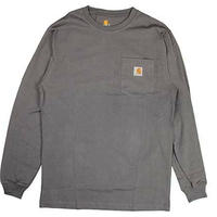 【残り僅か】Carhartt L/S pocket tee (Charcoal)