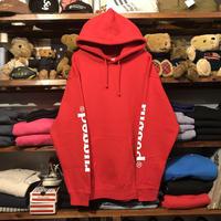 """【ラス1】RUGGED """"rugged®︎"""" sleeve logo sweat hoodie (Red)"""