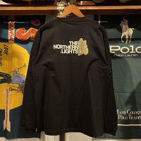 "【ラス1】RUGGED ""THE NORTHERN LIGHTS"" L/S tee (Black/backprint)"