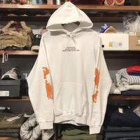 """【ラス1】FESC """"F#CK RASISM"""" sweat hoodie (White)"""