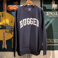 "RUGGED ""ARCH LOGO"" reverse weave sweat  (Navy/12.0oz)"