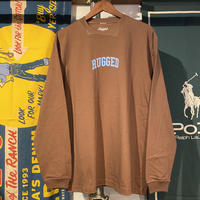 """RUGGED """"SMALL ARCH"""" L/S tee (Brown)"""