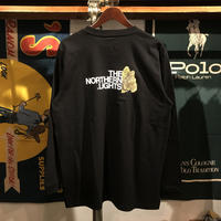 """RUGGED """"THE NORTHERN LIGHTS""""  L/S tee (Black)"""