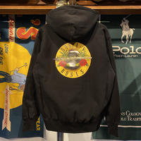 "【残り僅か】RUGGED ""GANJA & ROSES"" reverse weave sweat hoodie (Black/12.0oz)"