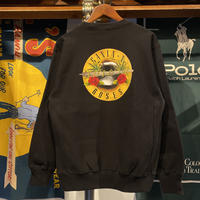 "【残り僅か】RUGGED ""GANJA & ROSES"" reverse weave  sweat  (Black/12.0oz)"