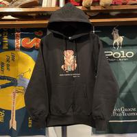 """【ラス1】RUGGED """"POLO SMOKE"""" reverse weave sweat hoodie (Black/12.0oz)"""