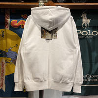 "RUGGED ""HARD COBAIN"" reverse weave sweat zip-up hoodie (White/12.0oz)"