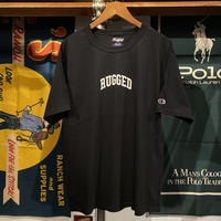 "【WEB限定/ラス1】RUGGED on champion ""SMALL ARCH"" tee (Black)"