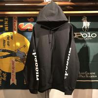 """【残り僅か】RUGGED """"rugged®︎"""" sleeve logo hoodie (Black)"""