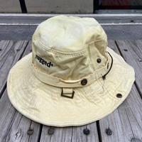 """rugged®︎"" logo string bucket hat (Yellow)"