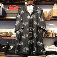 【ラス1】Mark Gonzales logo open collar shirt (Black)
