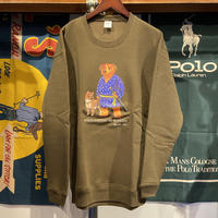 "【WEB限定】RUGGED ""POLO SAIGOU"" sweat (Olive/10.0oz)"