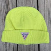 【残り僅か】GUESS knit cap (Yellow)