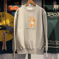 "【残り僅か】RUGGED ""POLO JINGI"" reverseweave sweat (Gray/12.0oz)"