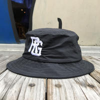 "【残り僅か】RUGGED ""TOKYO JOINTS"" nylon bucket hat (Black)"
