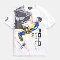 "POLO COUNTRY ""Climber"" print tee (White)"