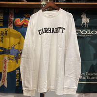 【ラス1】Carhartt WIP logo L/S tee (White)