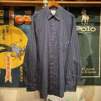 RUGGED on vintage cotton stripe shirt  (Navy)