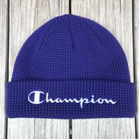 【ラス1】Champion logo beanie (Purple)