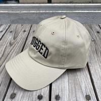 【ラス1】RUGGED ''ARCH LOGO'' adjuster cap (Beige×Black)