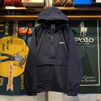 """【ラス1】RUGGED """"ARCH LOGO"""" nylon anorak jacket (Navy)"""
