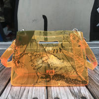 【残り僅か】AKIRA Art of Wall x nana-nana A5 Clear Bag (Orange)
