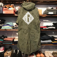 "RUGGED on vintage ""DIA LOGO""mods coat(M)⑧"