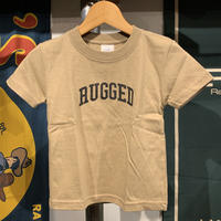 "【WEB限定】RUGGED ""SMALL ARCH"" kids tee (Sand Khaki)"