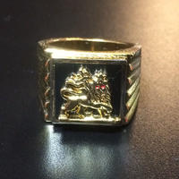 "RUGGED ""JAH LION"" ring (Made in Japan)"