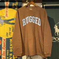 "RUGGED ""ARCH LOGO"" L/S tee (Brown)"