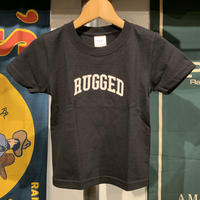 "【WEB限定】RUGGED ""SMALL ARCH"" kids tee (Black)"