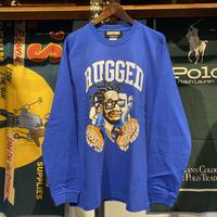"""【残り僅か】RUGGED × EDOFUKU """"CHAMBERS"""" L/S tee (Blue)"""
