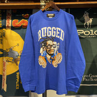 "RUGGED × EDOFUKU ""CHAMBERS"" L/S tee (Blue)"