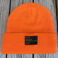 【ラス1】RUGGED tag beanie (Neon Orange)