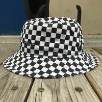 【ラス1】RUGGED on NEWERA ''rugged®︎'' checker bucket hat (White)