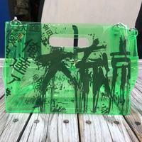 【残り僅か】AKIRA Art of Wall x nana-nana A4 Clear Bag (Green)