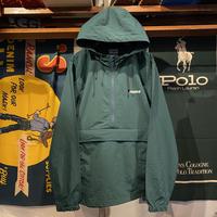 """【ラス1】RUGGED """"ARCH LOGO"""" nylon anorak jacket (Green)"""