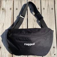 """【残り僅か】RUGGED """"rugged®️"""" body bag (Black)"""