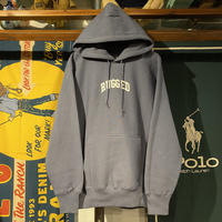 """RUGGED """"SMALL ARCH"""" reverse weave sweat hoodie (Stone Blue/12.0oz)"""