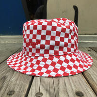 【ラス1】RUGGED on NEWERA ''rugged®︎'' checker bucket hat (Red)