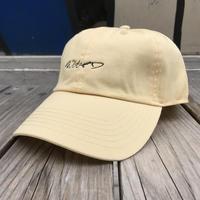 【残り僅か】RUGGED ''curisve logo'' adjuster cap (Cream)