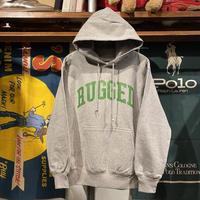 """【残り僅か】RUGGED """"ARCH LOGO"""" reverse weave  sweat hoodie (Gray/12.0oz)"""