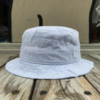 "【残り僅か】RUGGED on Newera ""rugged®︎"" stripe bucket hat (Blue)"