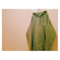 "EYE BLACK ""LOGO""  pull over parka (Olive/12.4oz)"
